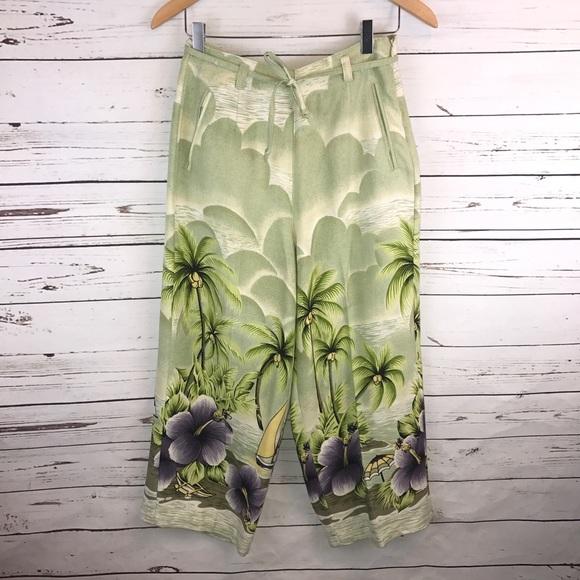 29daca6a45 Tommy Bahama Pants | Ladies Silk Gauchos Size 6 | Poshmark